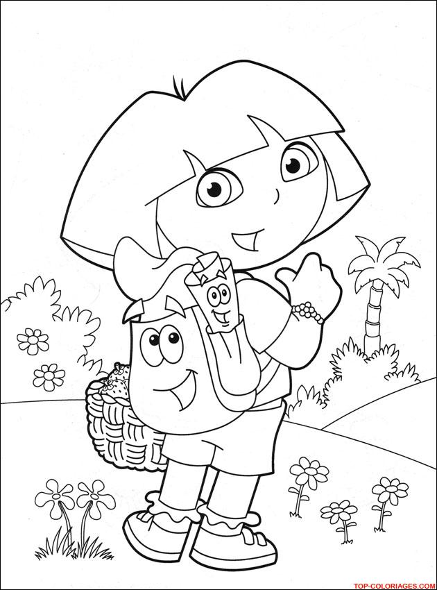 Coloriage Dora - Dessins - Activités pour enfants - Petits Pieds Petites Mains